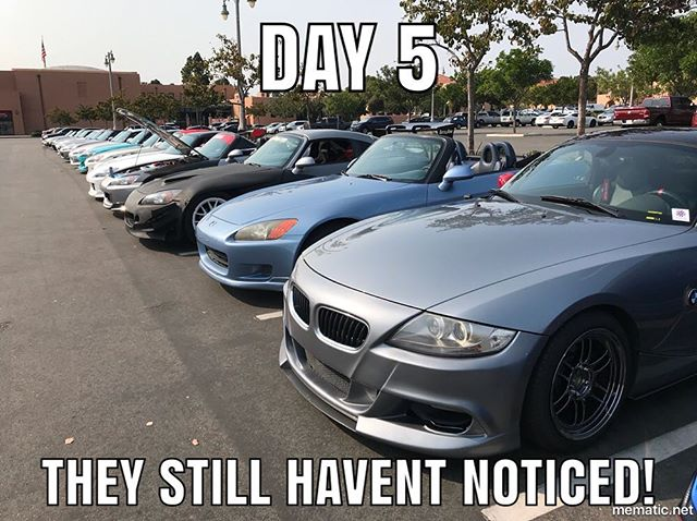 Wow! How rare! A row of S2Ks! LOL! Appreciate the hospitality @s__fam__! Follow them for S2000 meets/content!
